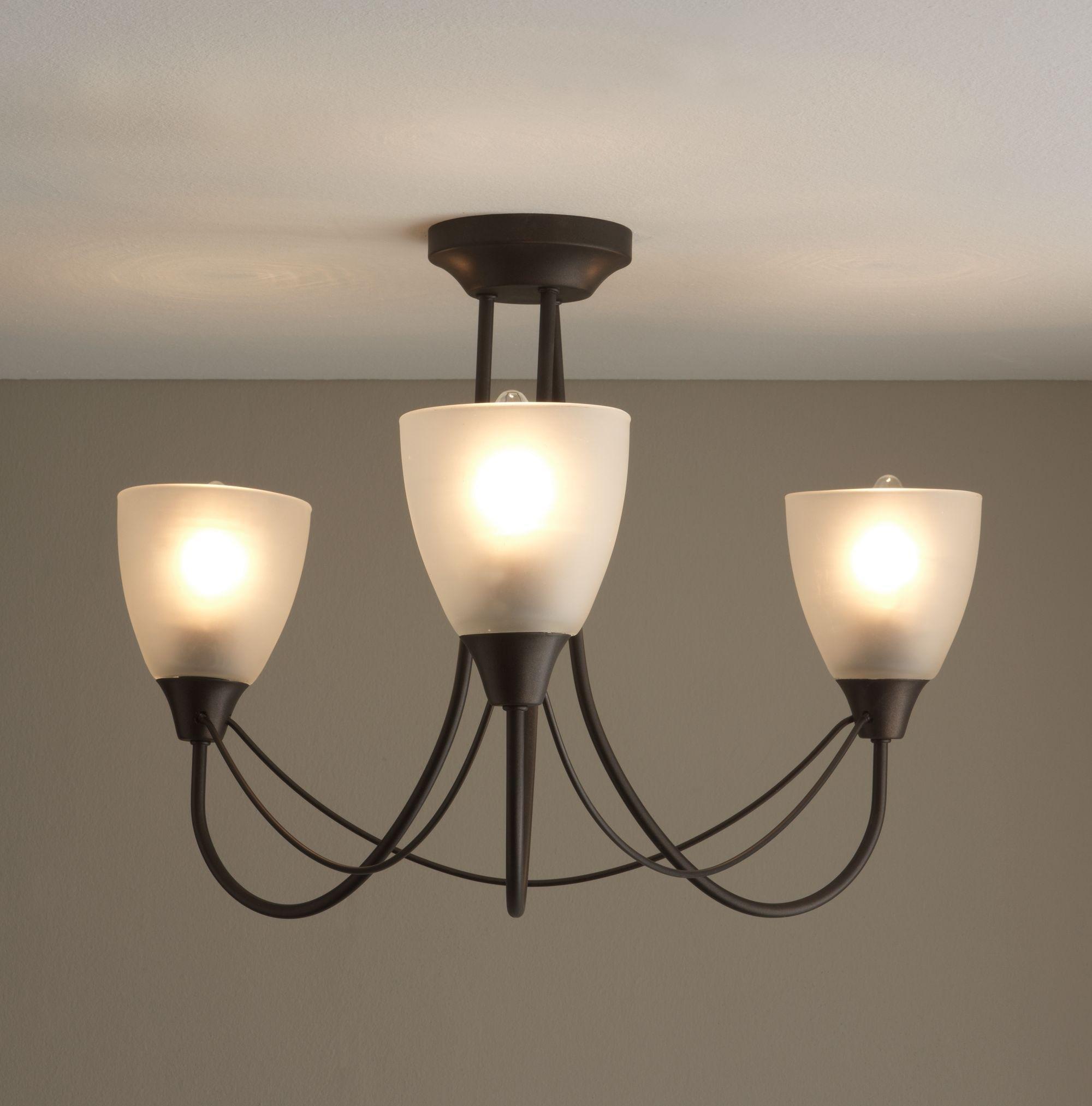 home symphony 3 light ceiling fitting antique brass. Black Bedroom Furniture Sets. Home Design Ideas