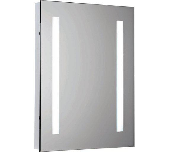 Collection Rec Illuminated Bathroom Mirror With Shaver Point
