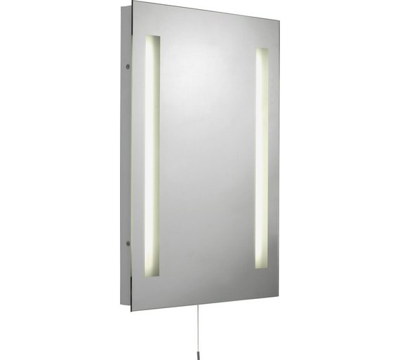 buy collection illuminated bathroom mirror with shaver. Black Bedroom Furniture Sets. Home Design Ideas