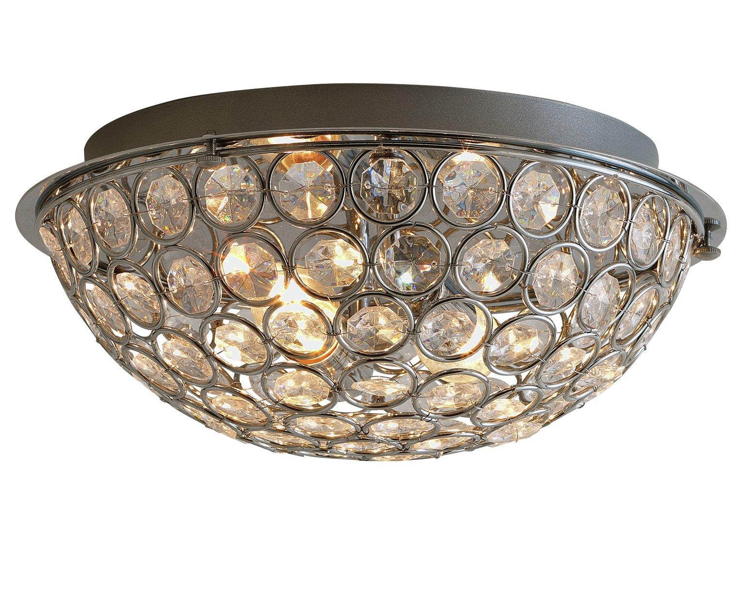 Argos Home 2 Light Sparkle Flush Ceiling Fitting Silver 4328836 Argos Price Tracker Pricehistory Co Uk