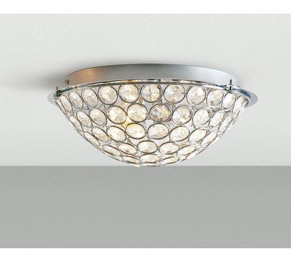 Led Light Fittings Argos: Buy HOME Sparkle Round 2 Light Flush Ceiling Fitting