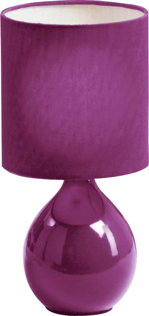 colourmatch round ceramic table lamp  purple fizz.