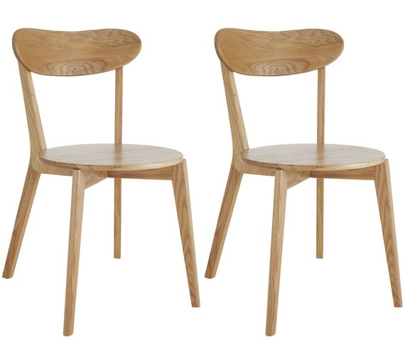 Buy Habitat Sophie Pair Of Oak Dining Chairs At Argoscouk Your - Oak dining chairs uk