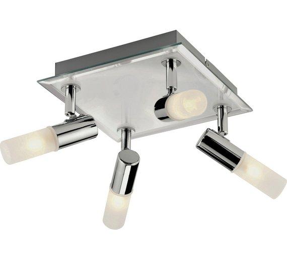 Led Spotlight Homebase: Buy Collection Milano Square 4 Light Bathroom Spotlight