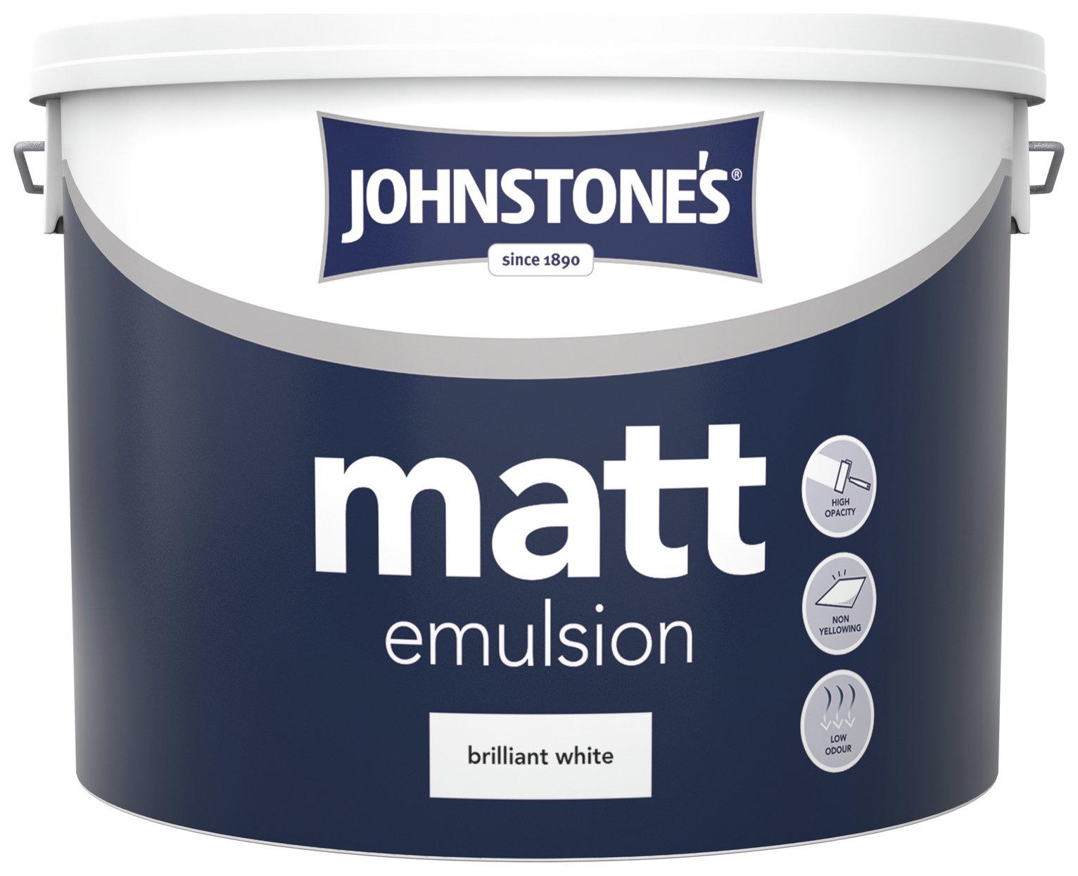 Johnstone's Brilliant White Vinyl Matt Emulsion 10L.