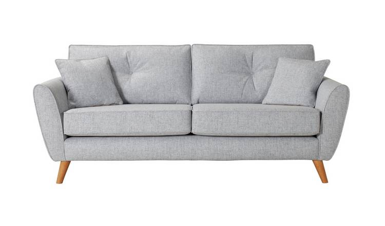 Habitat Isla 3 Seater Fabric Sofa - Light Blue