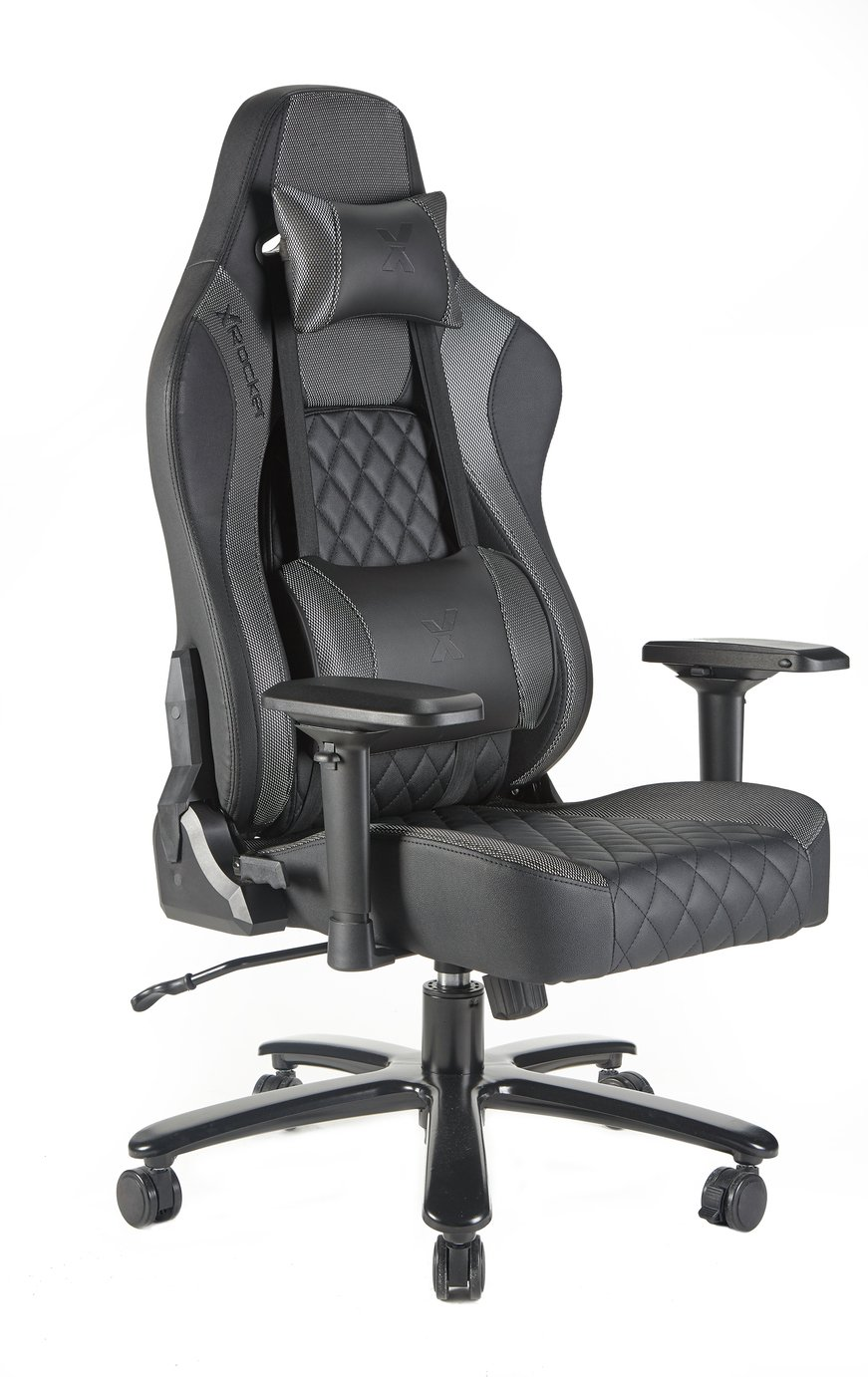 X Rocker Delta Pro Series IV Gaming Chair - Silver