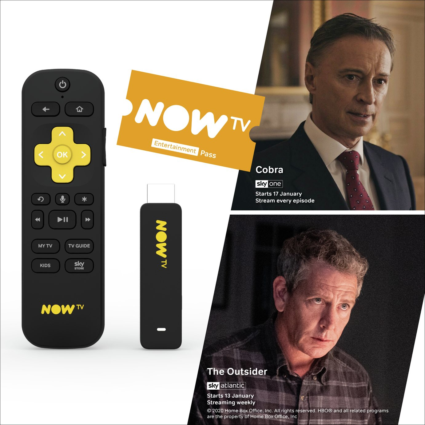 NOW TV Smart Stick with 6 month Entertainment Pass