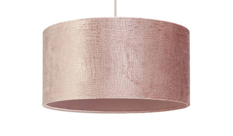Argos Home Boutique Snakeskin Effect Shade - Blush