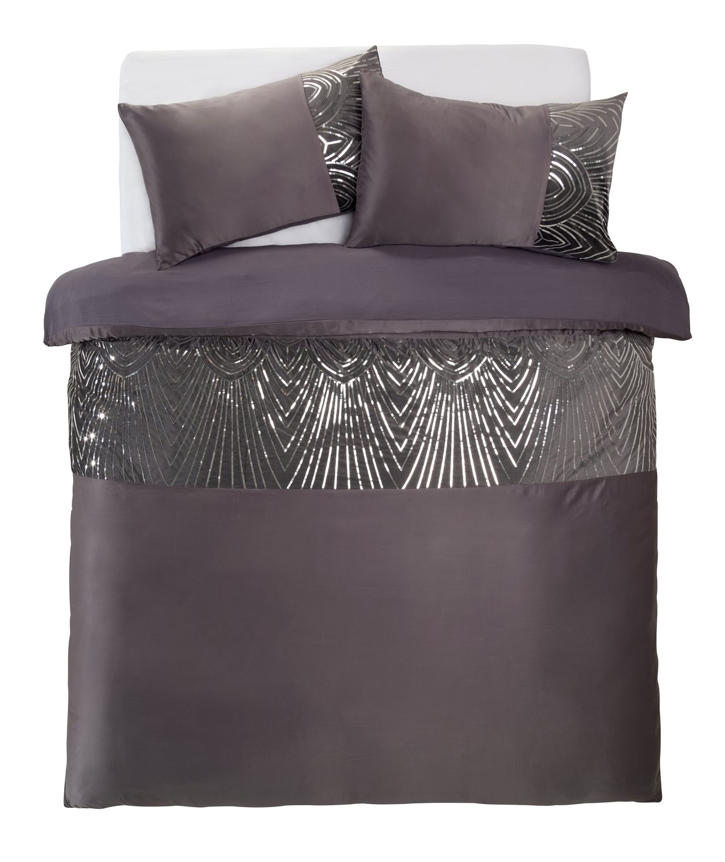 Argos Home Slate Sequin Bedding Set - Kingsize