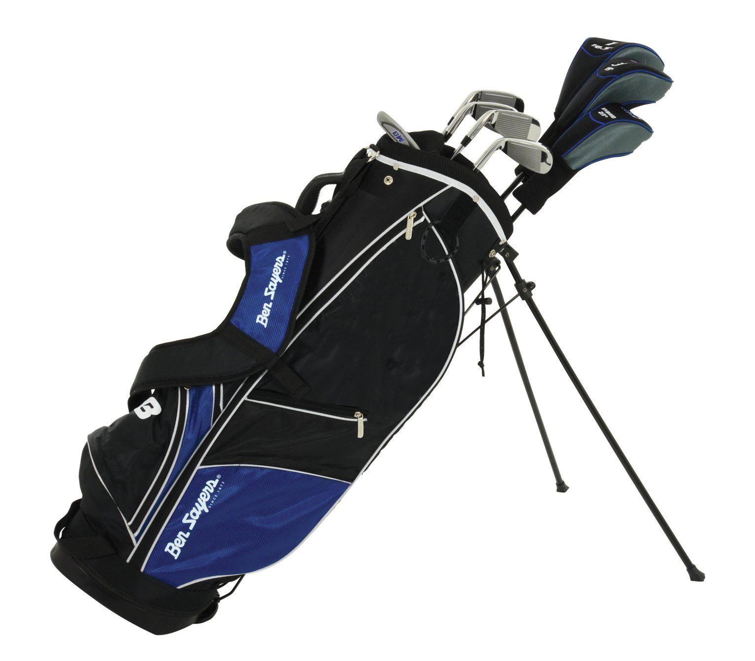 Ben Sayers M8 8 Golf Club Set and Stand Bag - Blue