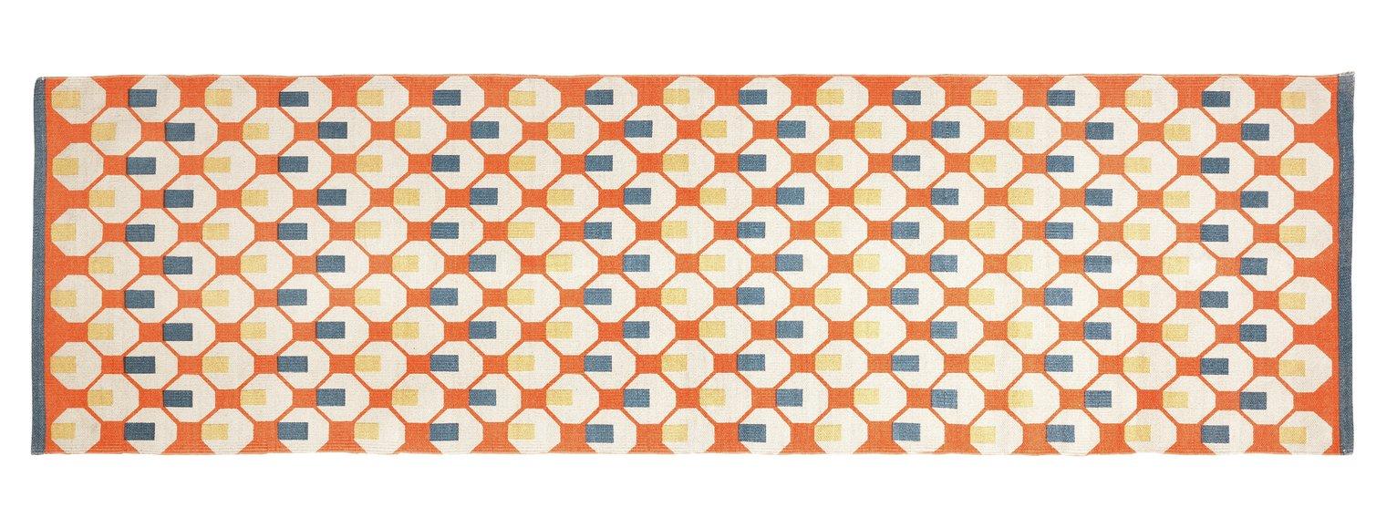 Habitat Octo Rug - 75x250cm - Orange