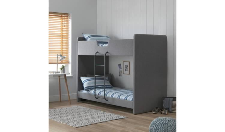 Argos Home Upholstered Bunk Bed - Grey