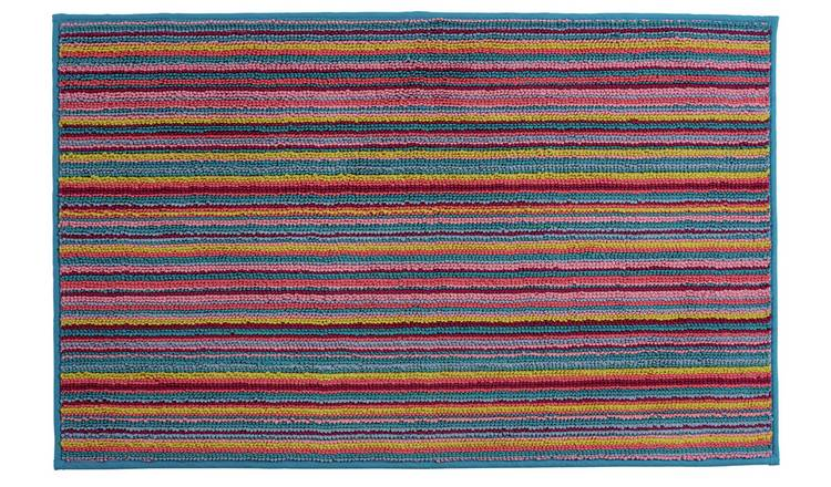 Argos Home Skinny Stripe Bath Mat