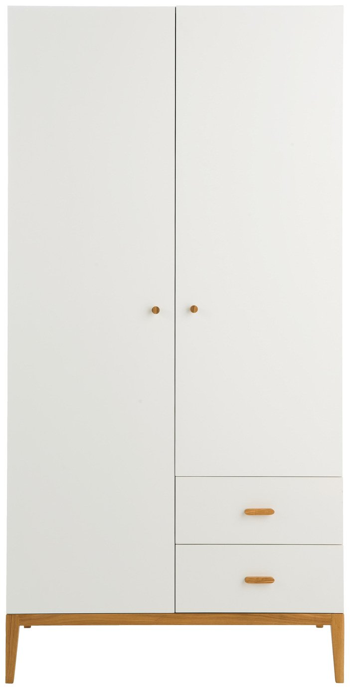 Habitat Tatsuma 2 Door 2 Drawer Wardrobe - White