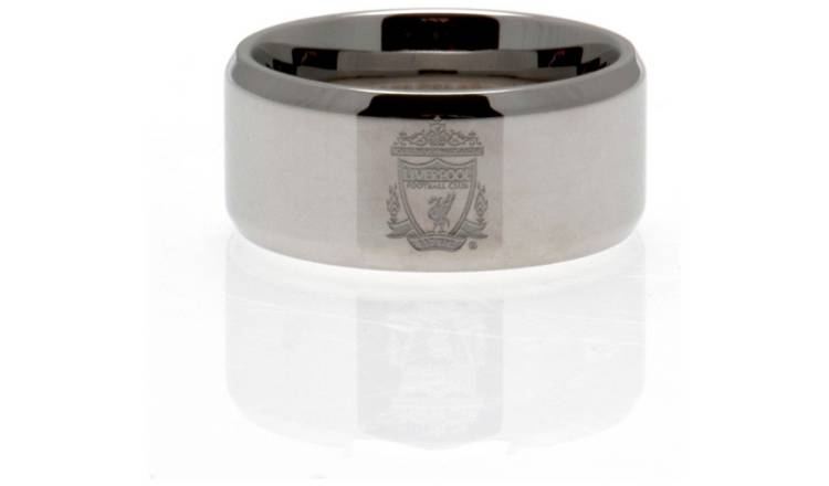 Stainless Steel Liverpool Ring - Size R.