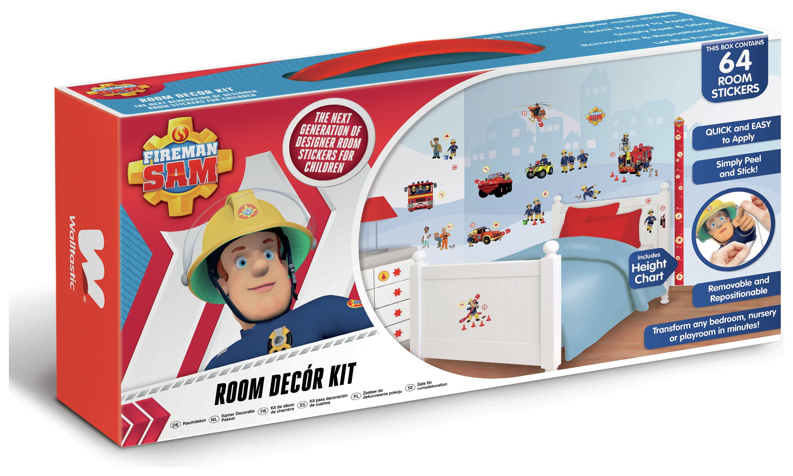 Buy Walltastic Fireman Sam Room Decor Kit at Argoscouk Your