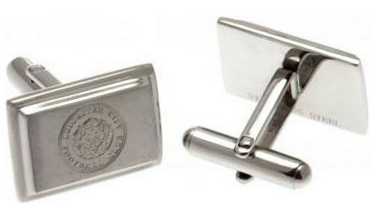 Stainless Steel Leicester City Crest Cufflinks