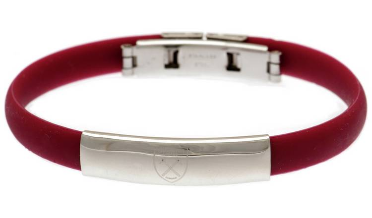 Stainless Steel and Rubber West Ham Bracelet