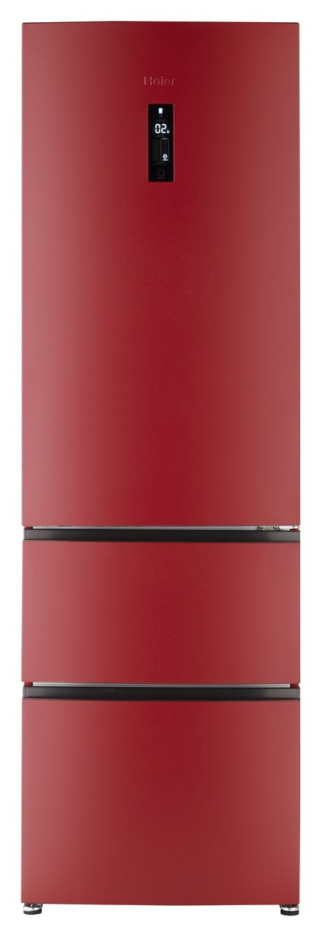 Image of Haier A2FE635CRJ American Fridge Freezer - Red With Installation