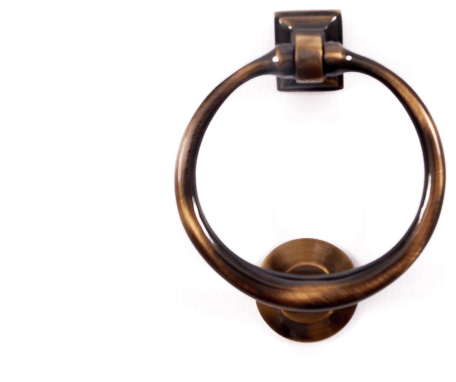 antique brass ring door knocker