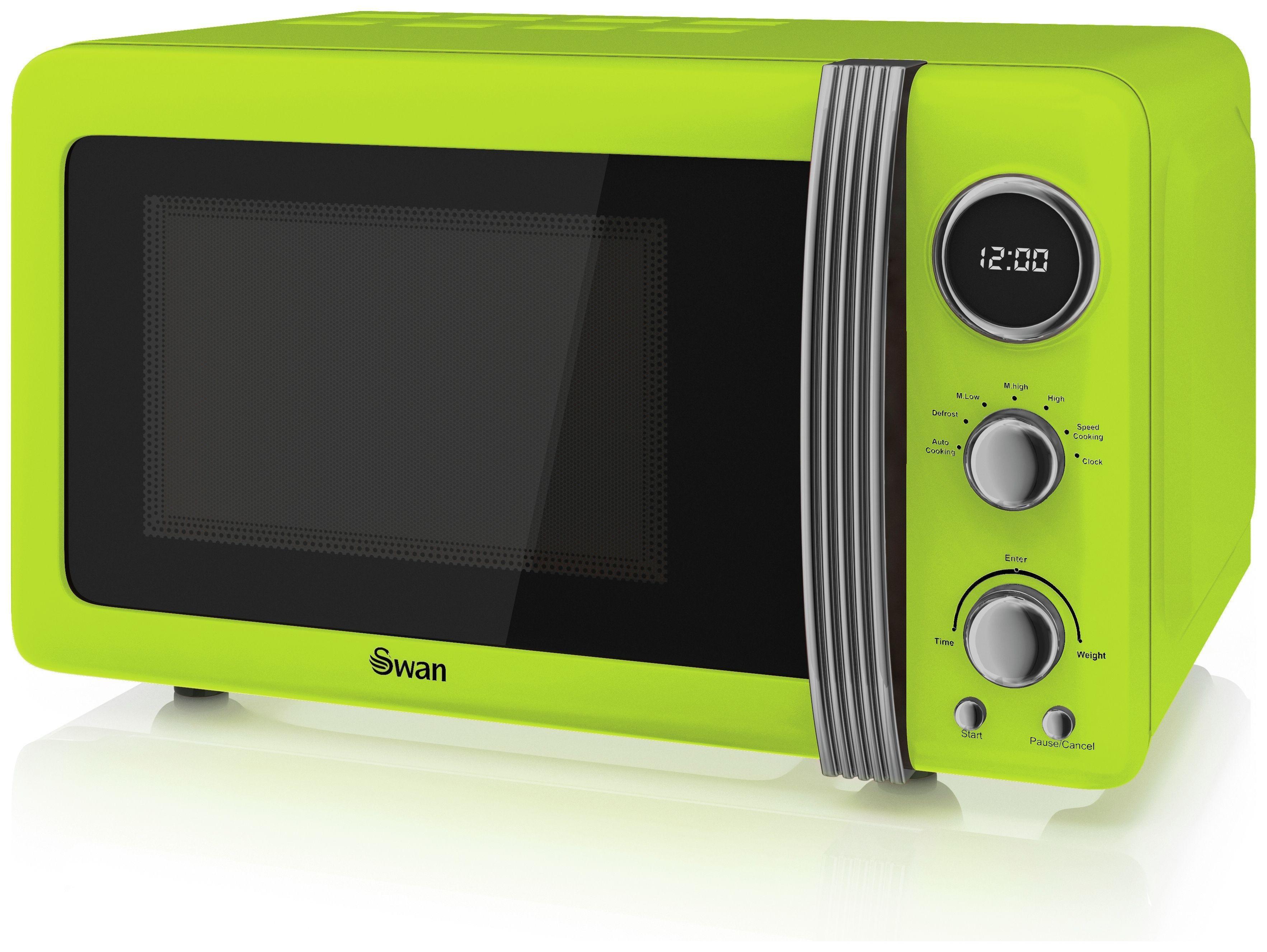 Swan - SM22030 Standard Microwave - Lime