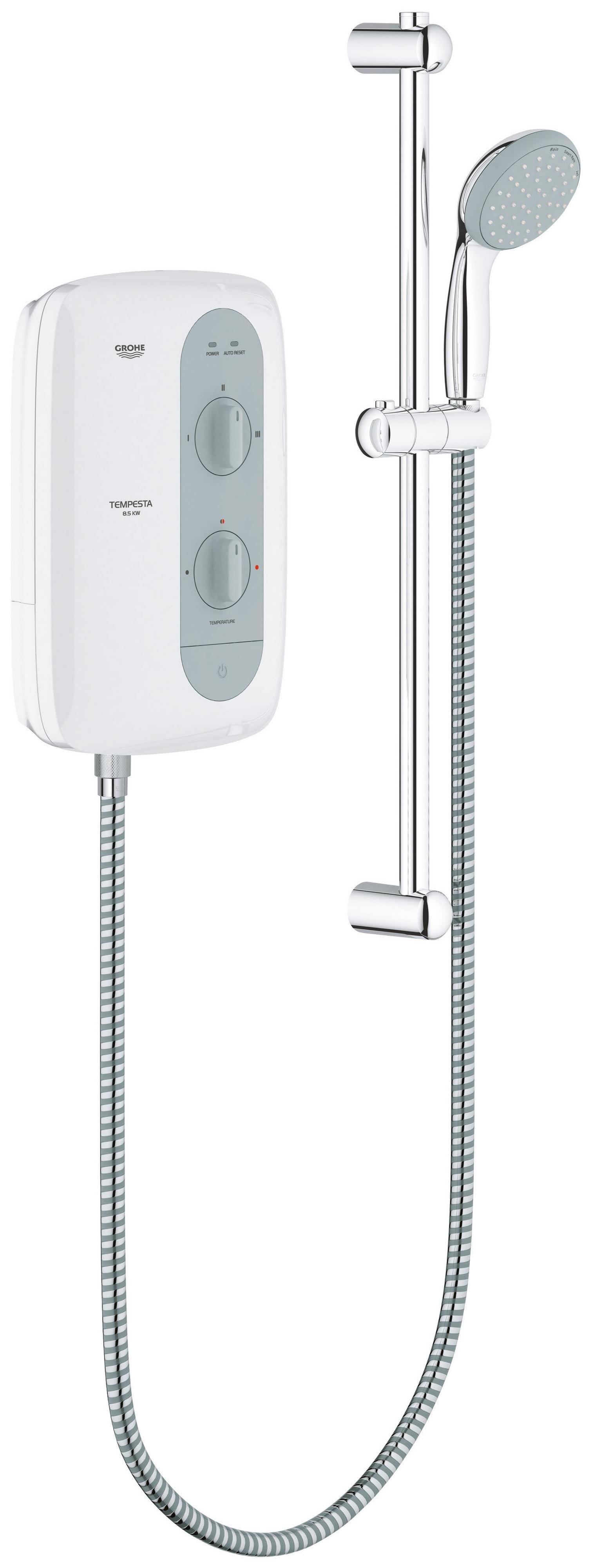 sale on grohe tempesta 100 8 5kw electric shower grey. Black Bedroom Furniture Sets. Home Design Ideas