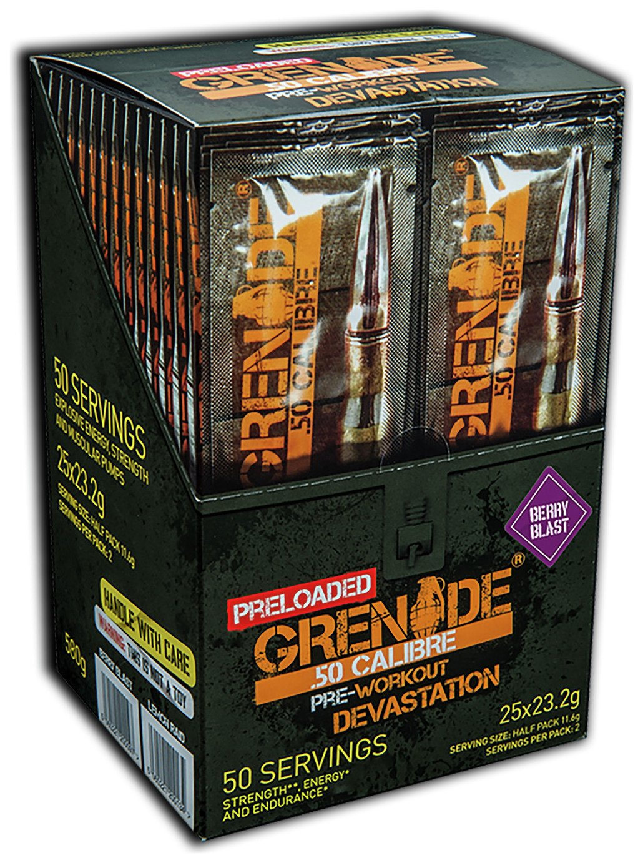 Image of Grenade - 50 Calibre Preloaded 25 Sachets - Berry