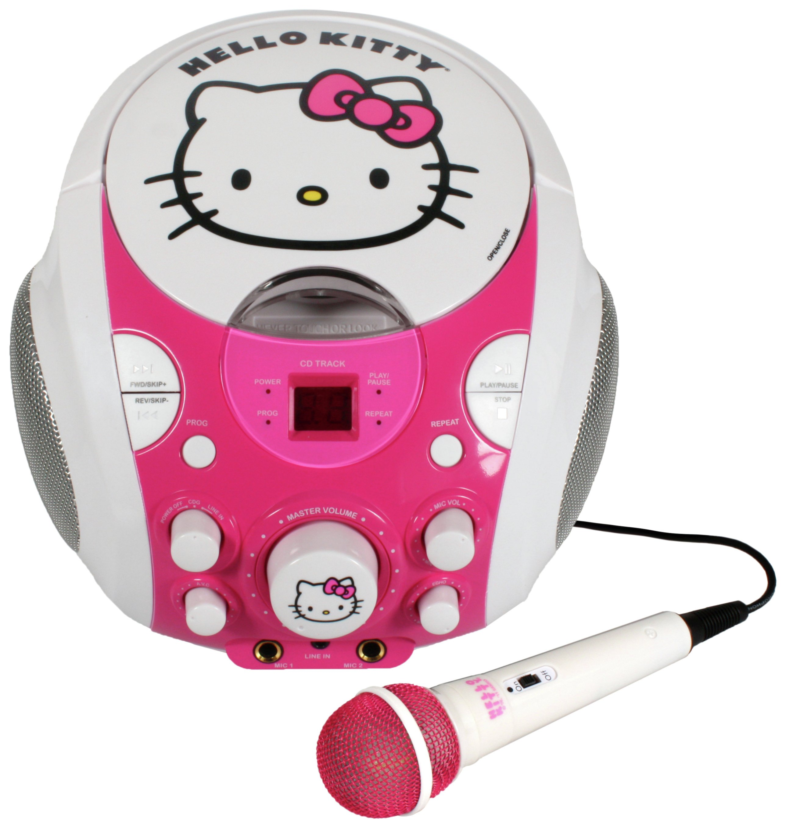 Image of Hello Kitty Portable CDG Karaoke Machine.