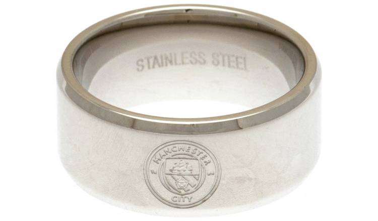 Stainless Steel Man City Ring - Size X