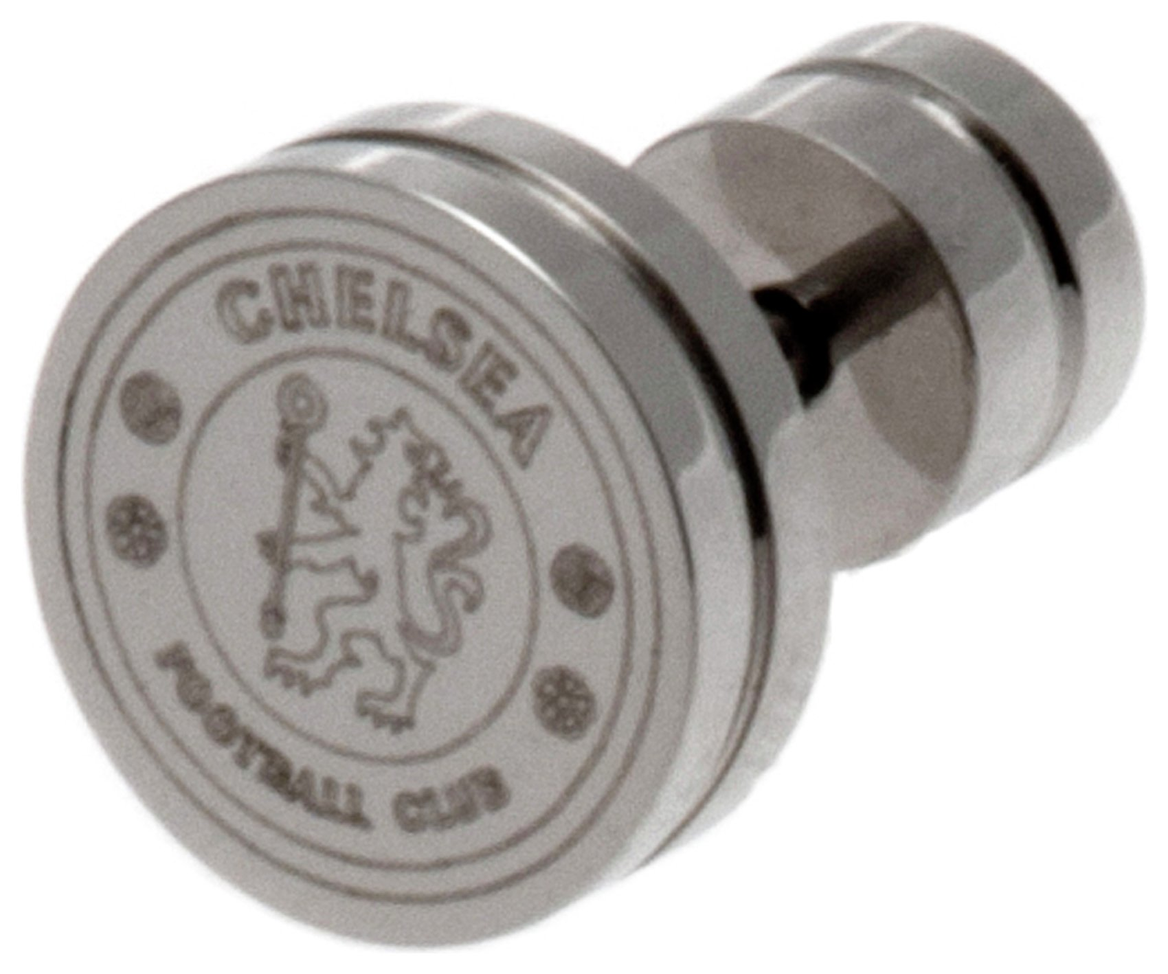 Image of Stainless Steel Chelsea Crest Stud Earring.