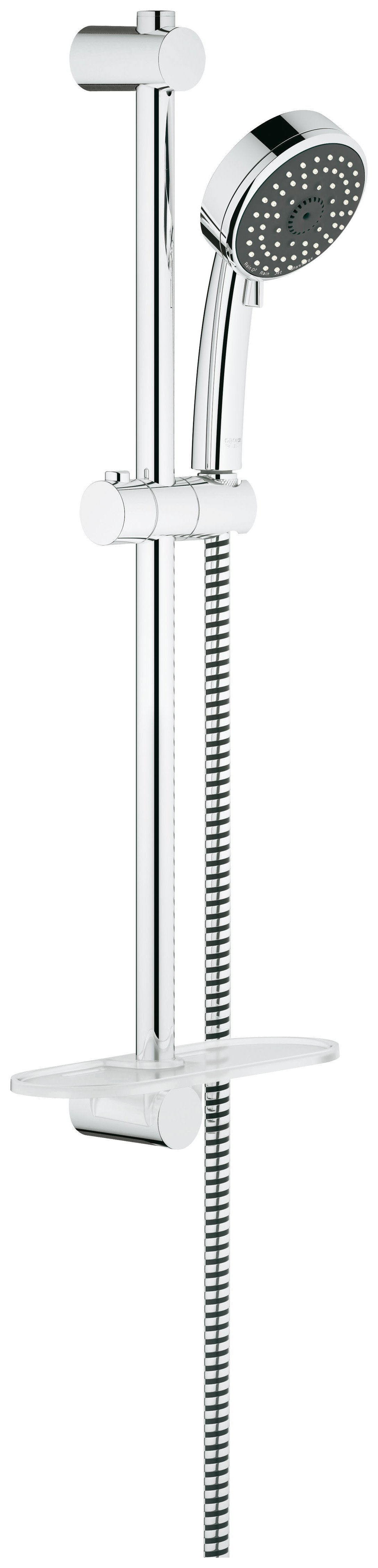 Grohe Vitalio Comfort 100 Metal Hand Shower Rail Set