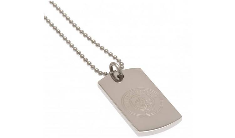Stainless Steel Man City Dogtag and Chain