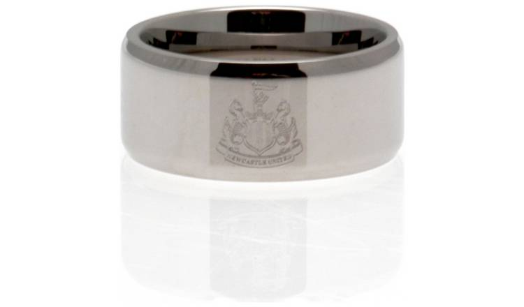 Stainless Steel Newcastle Utd Ring - Size U