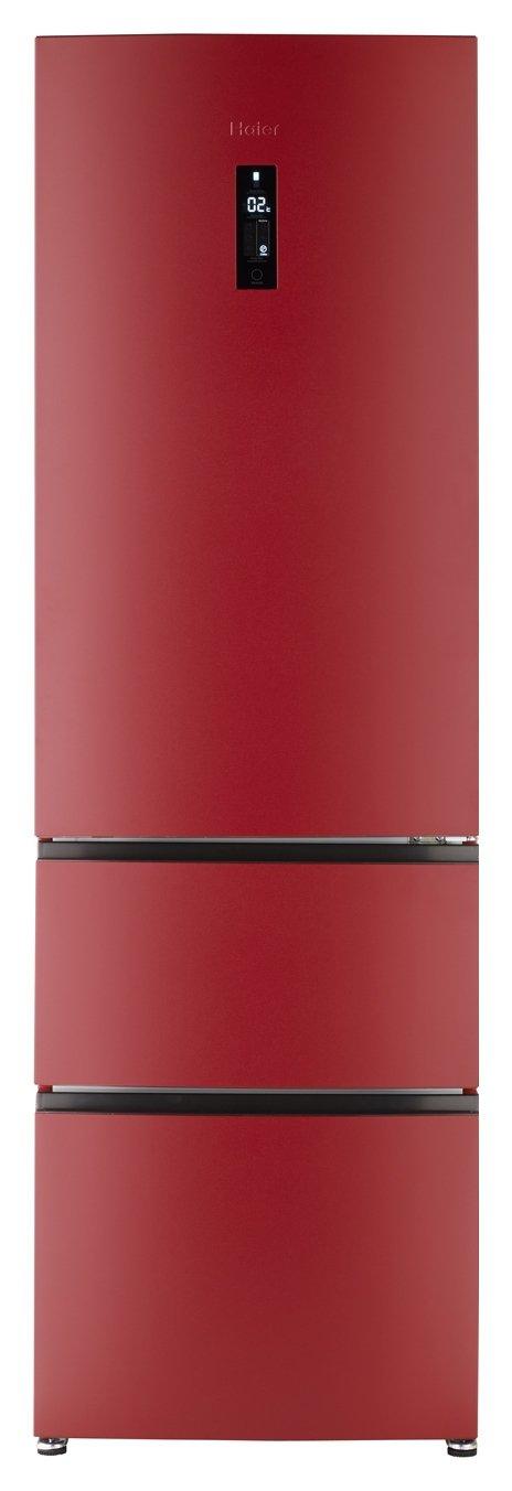 Image of Haier A2FE635CRJ American Fridge Freezer - Red