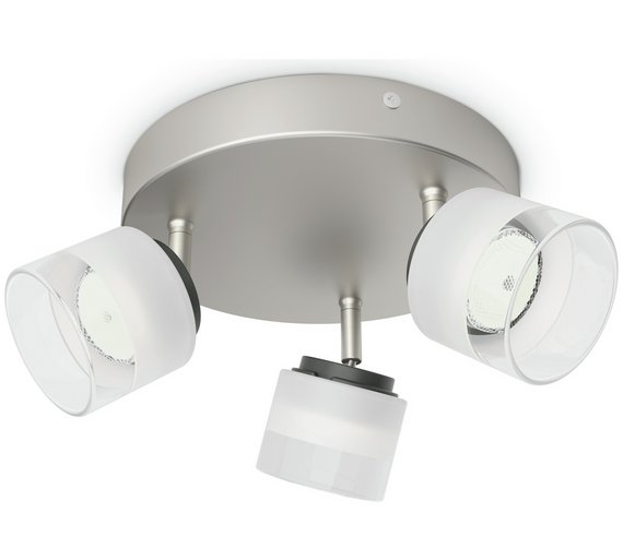 buy philips myliving fremont 3 spiral light nickel ceiling and