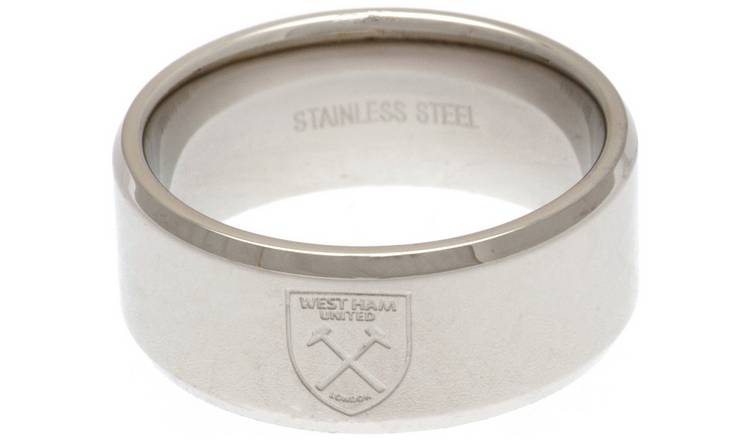 Stainless Steel West Ham Ring - Size U