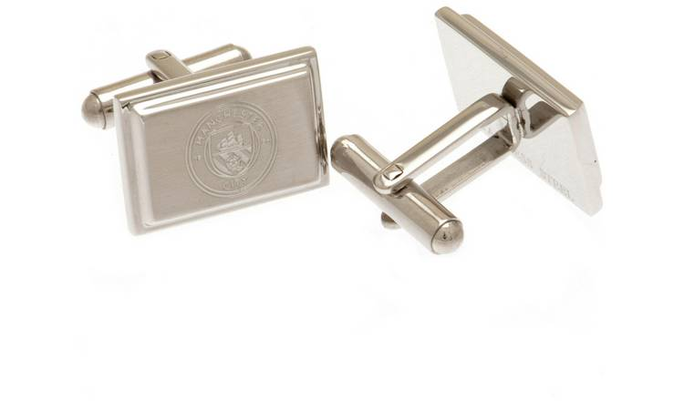 Stainless Steel Man City Crest Cufflinks