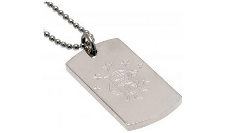 Stainless Steel Rangers Dogtag and Chain.