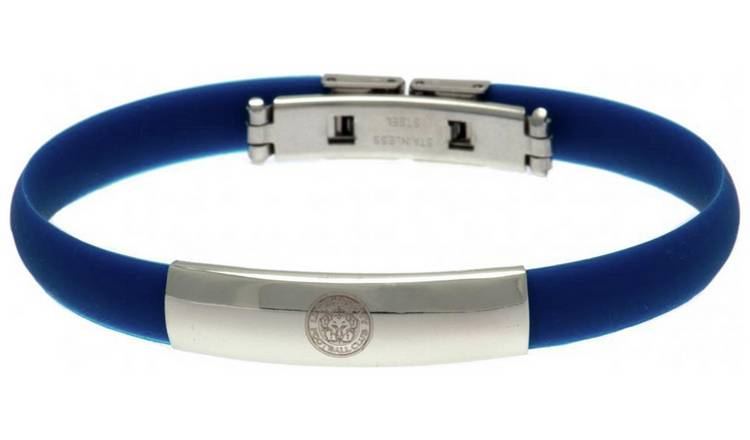 Stainless Steel and Rubber Leicester City Bracelet