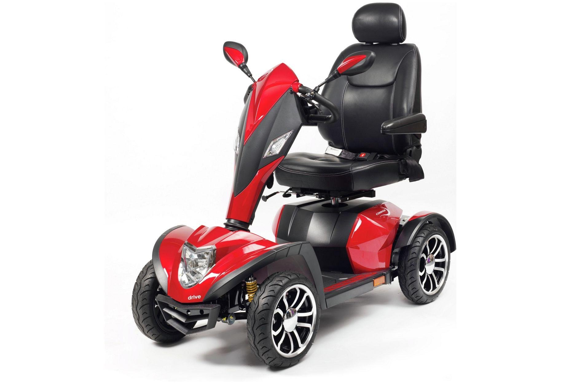 Drive DeVilbiss Healthcare Cobra Mobility Scooter Class 3 - Red.