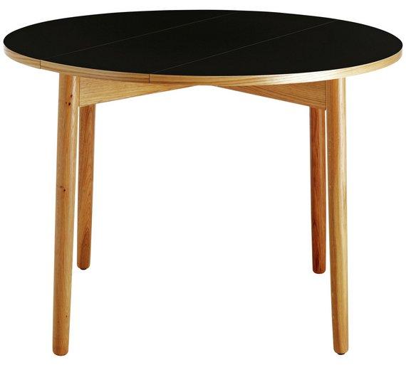 buy habitat suki round 2 4 seater folding table black dining