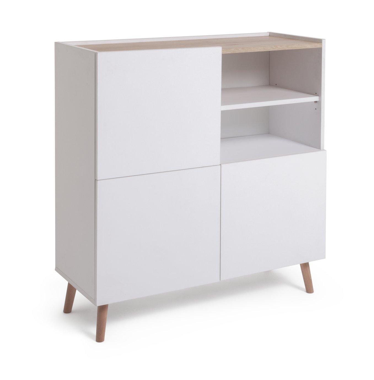 Habitat Skandi 3 Door Sideboard - White Two Tone