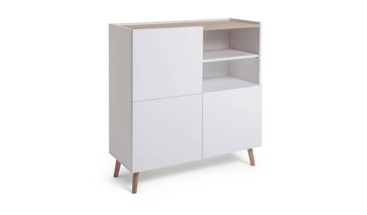 Habitat Skandi 3 Door Sideboard - White Two Tone