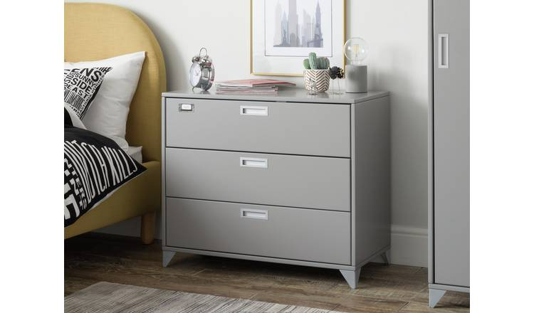 Argos Home Loft Locker 3 Drawer Chest - Grey