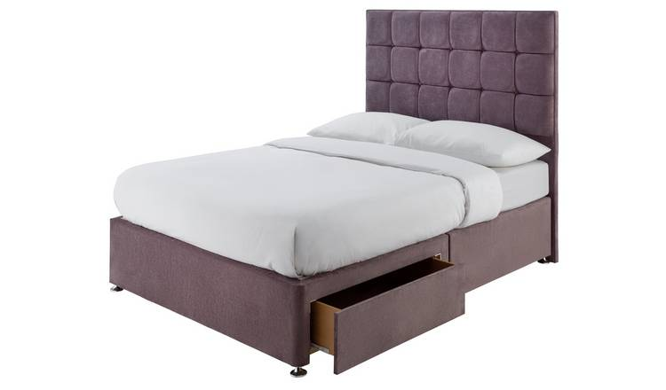 Forty Winks 1500 Pocket Gel 2 Drawer Double Divan - Mauve