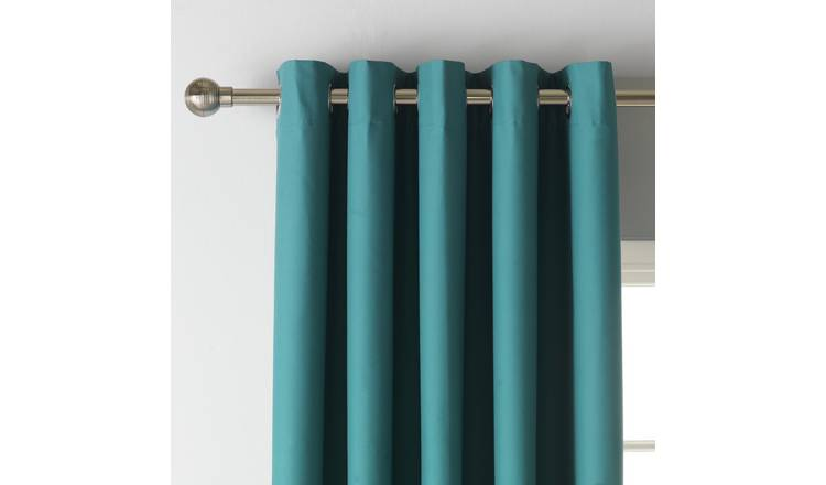 Argos Home Blackout Eyelet Curtain - Teal