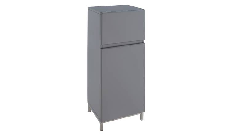 Argos Home Gloss Single Unit - Grey