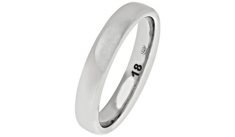 Revere Sterling Silver Heavyweight 4mm Wedding Ring - 4mm -L