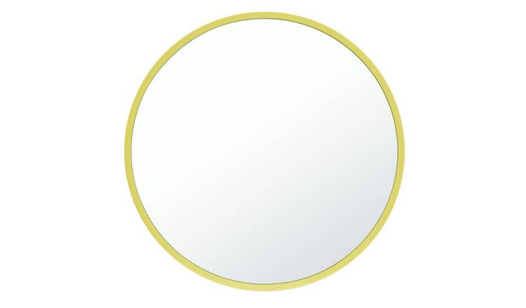 Argos Home Brights Round Wall Mirror - Lime